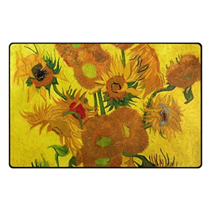 ALAZA Pittura Girasoli di Van Gogh Oil coperta di zona 20\
