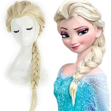 Tasso Store Frozen Princess Elsa Light Gold Lang Haar Zopf Cosplay