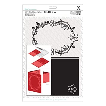 Docrafts Poinsettia Frame A4 Embossing Folder: Amazon.co.uk: Office ...