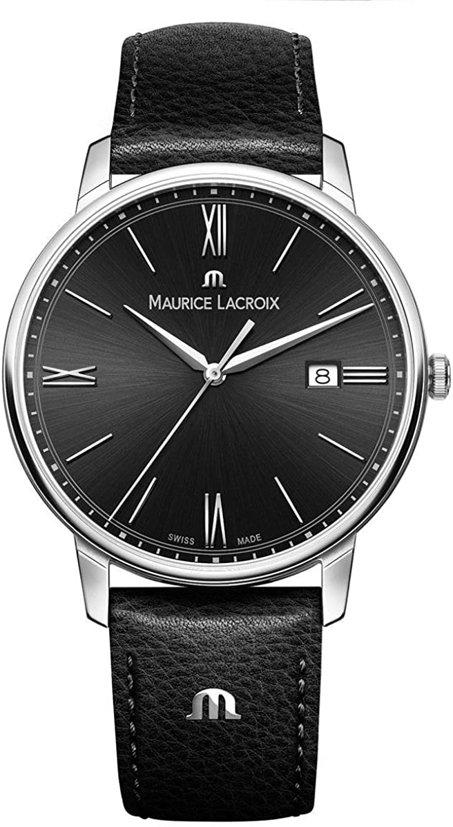 Maurice Lacroix EL1118-SS001-310-1 - Reloj de Pulsera Hombre, Color Negro