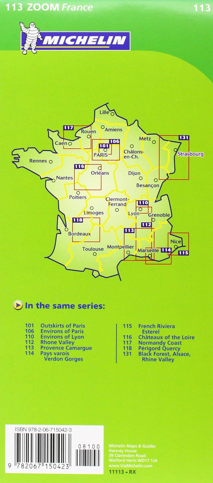 Camargue Karte.Mapa Zoom Provence Camargue Mapas Zoom Michelin Band 113 Amazon