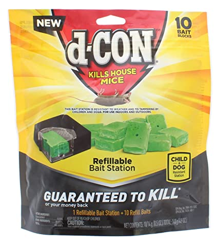 Amazon com: 2 Pk  D-Con Mouse Poison Bait Station (2