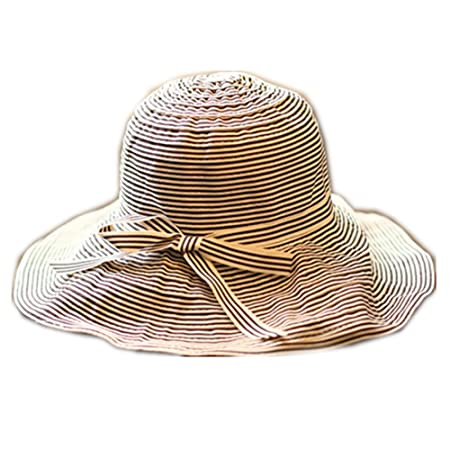 Hosaire 1x Sombreros del Sol para Mujer Rayas Gorra de Tela Gorras ...
