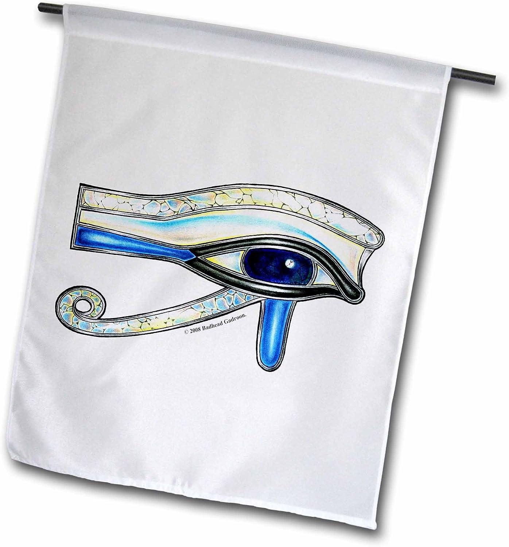 3dRose Badhead Gadroon Sigils and Designs - Opalite Eye of Ra Egyptian Pagan Art - 18 x 27 inch Garden Flag (fl_167472_2)