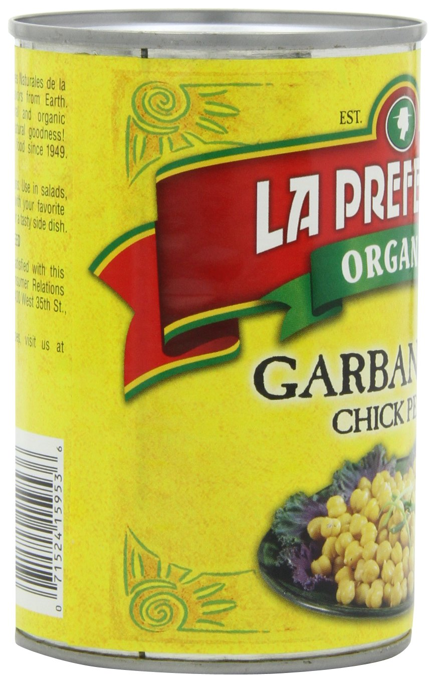 La Preferida Organic Chick Peas & Garbanzo Beans, 15-Ounce (Pack of 6)