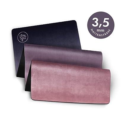 OM YA Design - Esterilla Antideslizante para Yoga, 3,5 mm ...