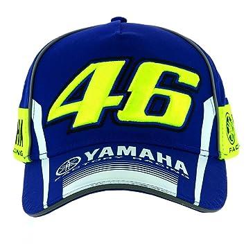 nouveau style 35429 bc15a VR46 Valentino Rossi Casquette Moto GP M1 Yamaha Racing Team 2017 pour  Homme Bleu Taille Unique