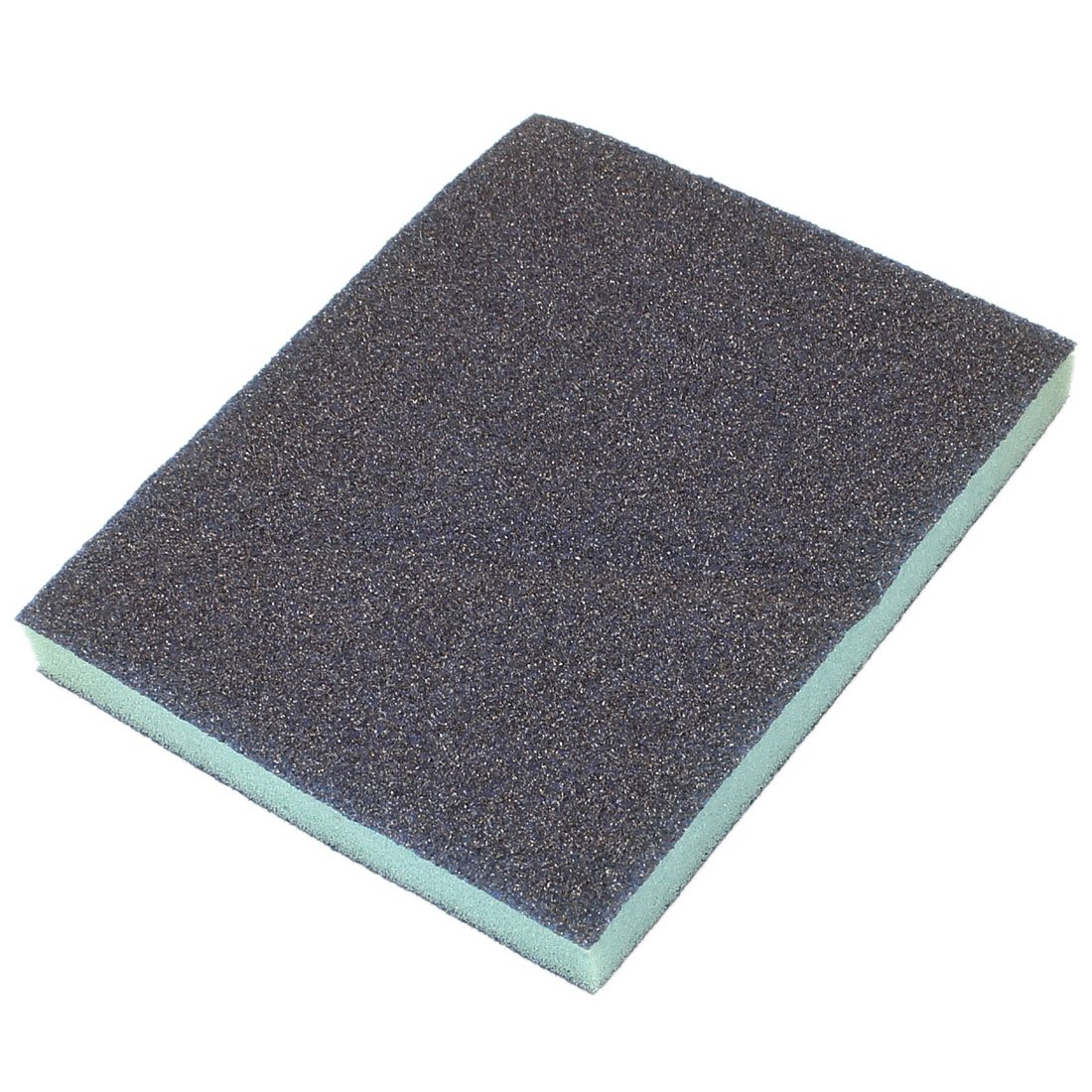 Rectangle Rough Grinding Sanding Sponge Block Gray 120mm x 98mm x 13mm Sourcingmap a14061000ux0730