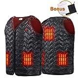Heated Vest, USB Charging 5 Panel Niubalac Heated