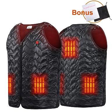 Heated Hunting Clothes >> Amazon Com Heated Vest Usb Charging 5 Panel Niubalac Heated