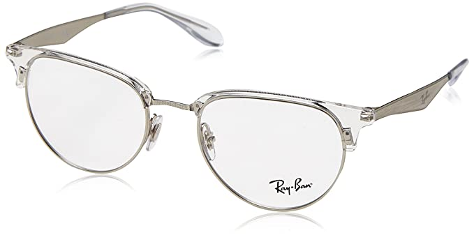eaf73b150 Image Unavailable. Image not available for. Color: Ray-Ban Men's 0rx6396 No  Polarization Square Prescription Eyewear Frame Silver ...