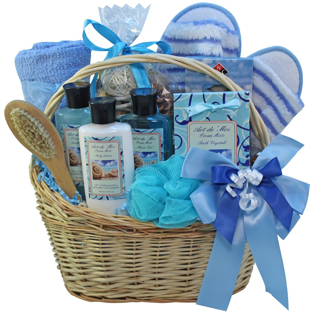 Ocean Mists Spa Bath and Body Gift Basket Set: Amazon.com: Grocery ...