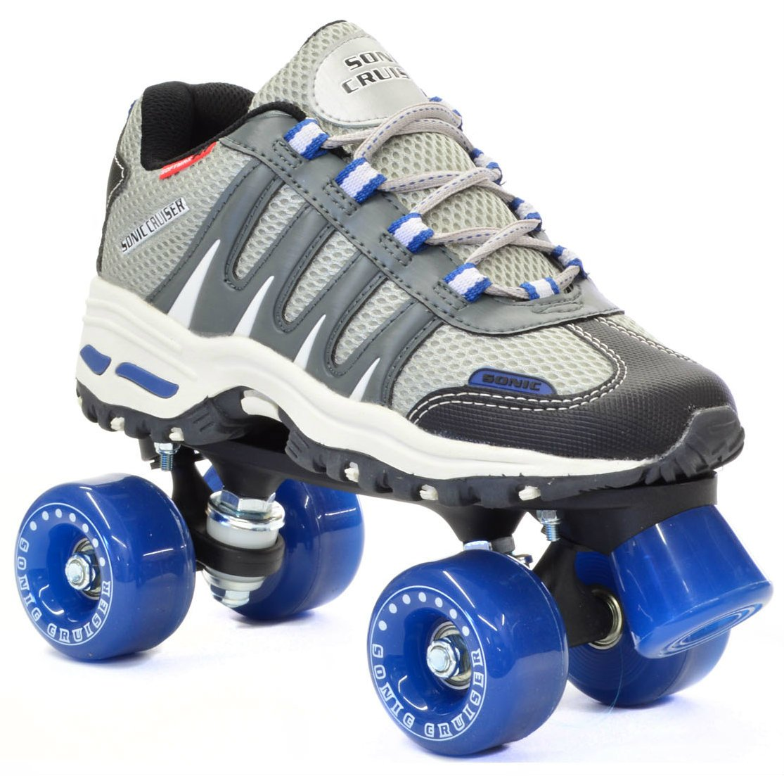 Sonic Cruiser Outdoor Skates – Sonic Cruiser Outdoor Quad Roller Skate,Gray,Mens 5 Ladies 6