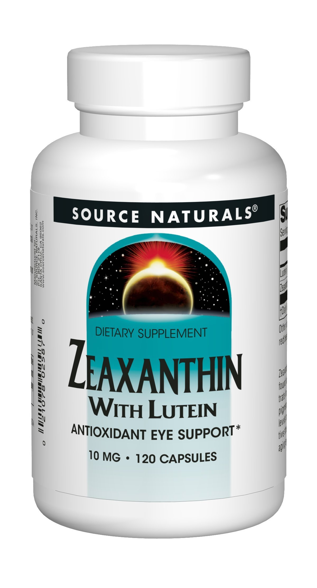 Source Naturals Zeaxanthin With Lutein 10 mg Powerful Antioxidants - 120 Capsules