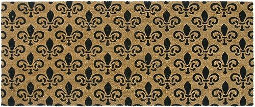 Rubber-Cal St. Germaine Fleur de Lis Door Mat, 24 by 57-Inch
