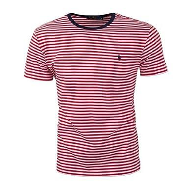 online retailer 01e88 bc8ba Ralph Lauren - Gestreiftes T-Shirt, Rot / Weiss, XL: Amazon ...