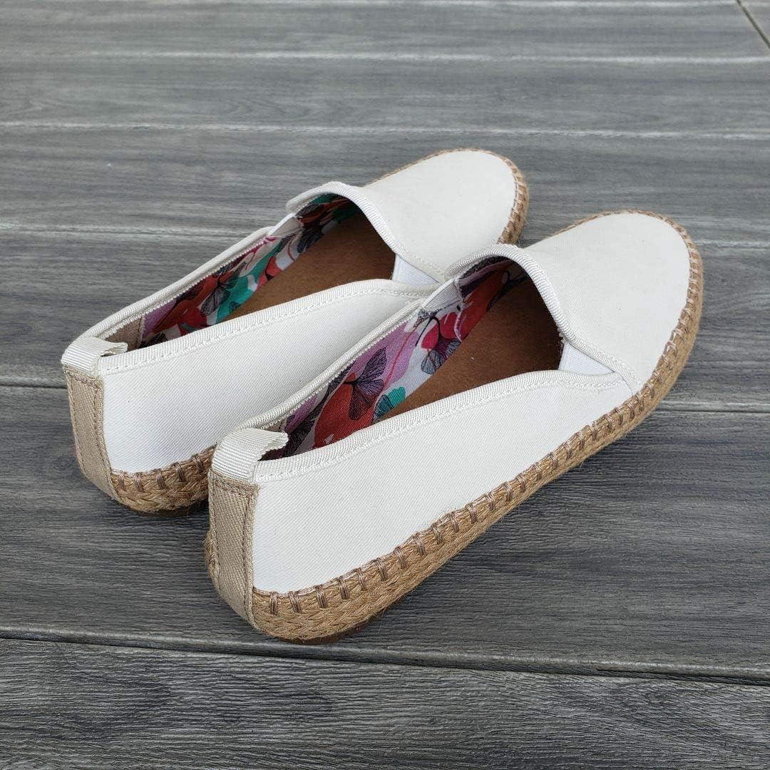 Pamir Womens Espadrilles Casual Flats Classic Slip-On Comfort Canvas Shoes