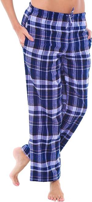 Alexander Del Rossa Women's Flannel Pajama Pants, Long Cotton Pj Bottoms