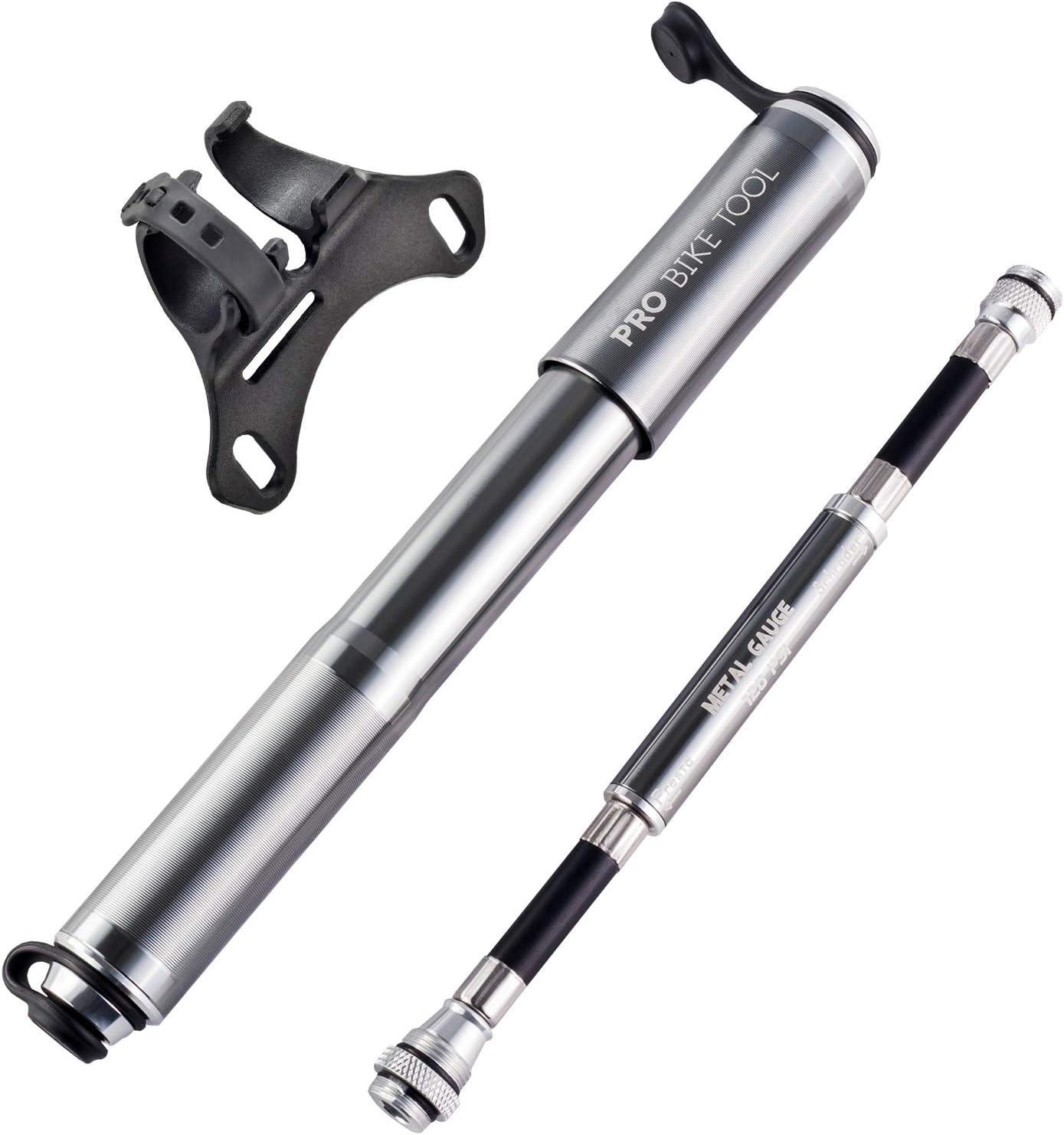 Pro Bike Tool Bike Pump with Gauge