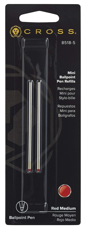 Cross Mini BallPoint Pen Refills Red Medium Pack of 2 8518-5