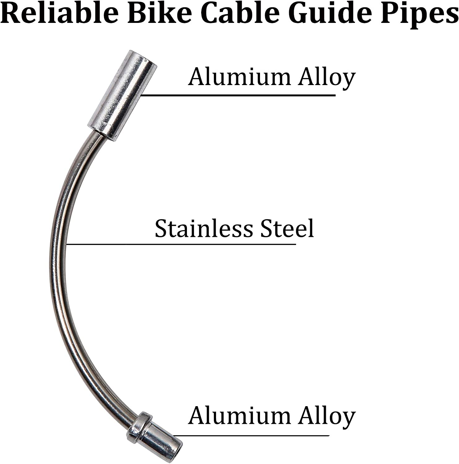EACOZY Bike V Brake Noodle Cable Guide Pipe Rubber Boots