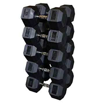 Body Solid, mancuernas hexagonales de caucho: Amazon.es: Deportes y aire libre