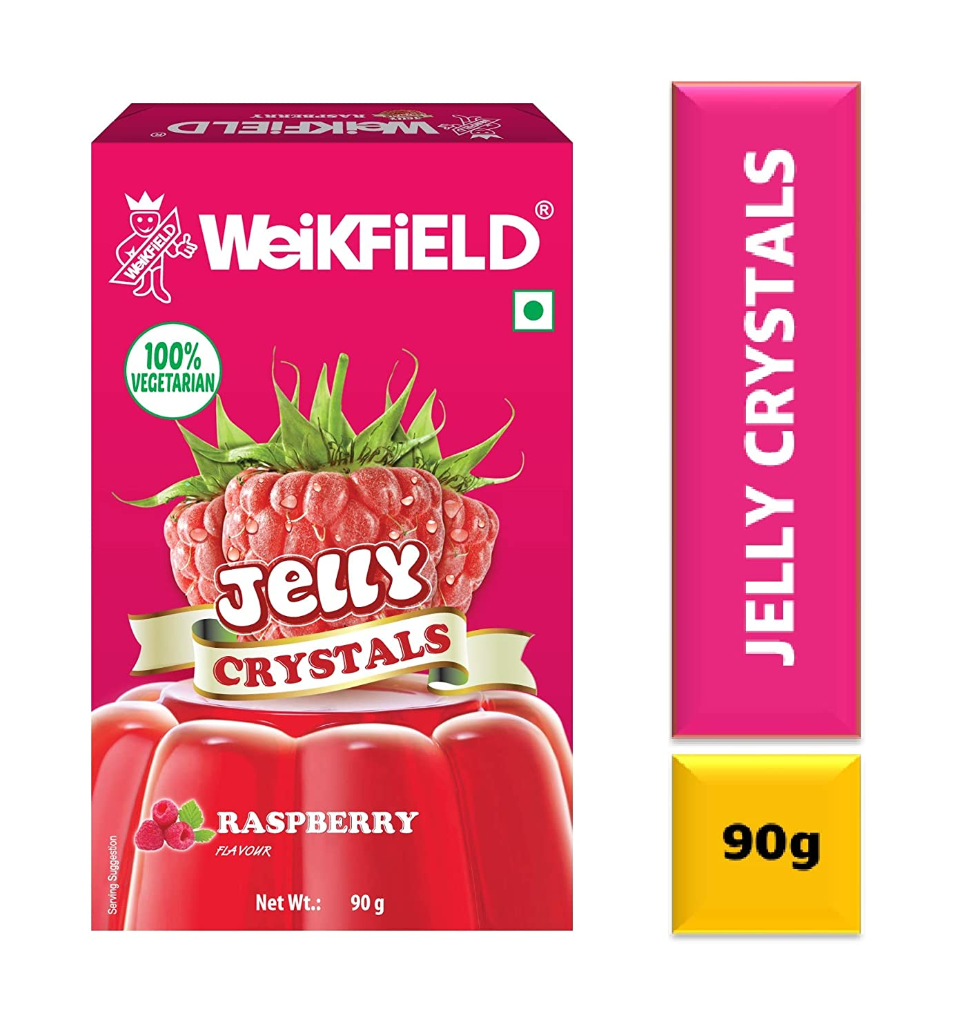 Weikfield Jelly Crystals Raspberry 90g Amazon Retail Pink Arbutin
