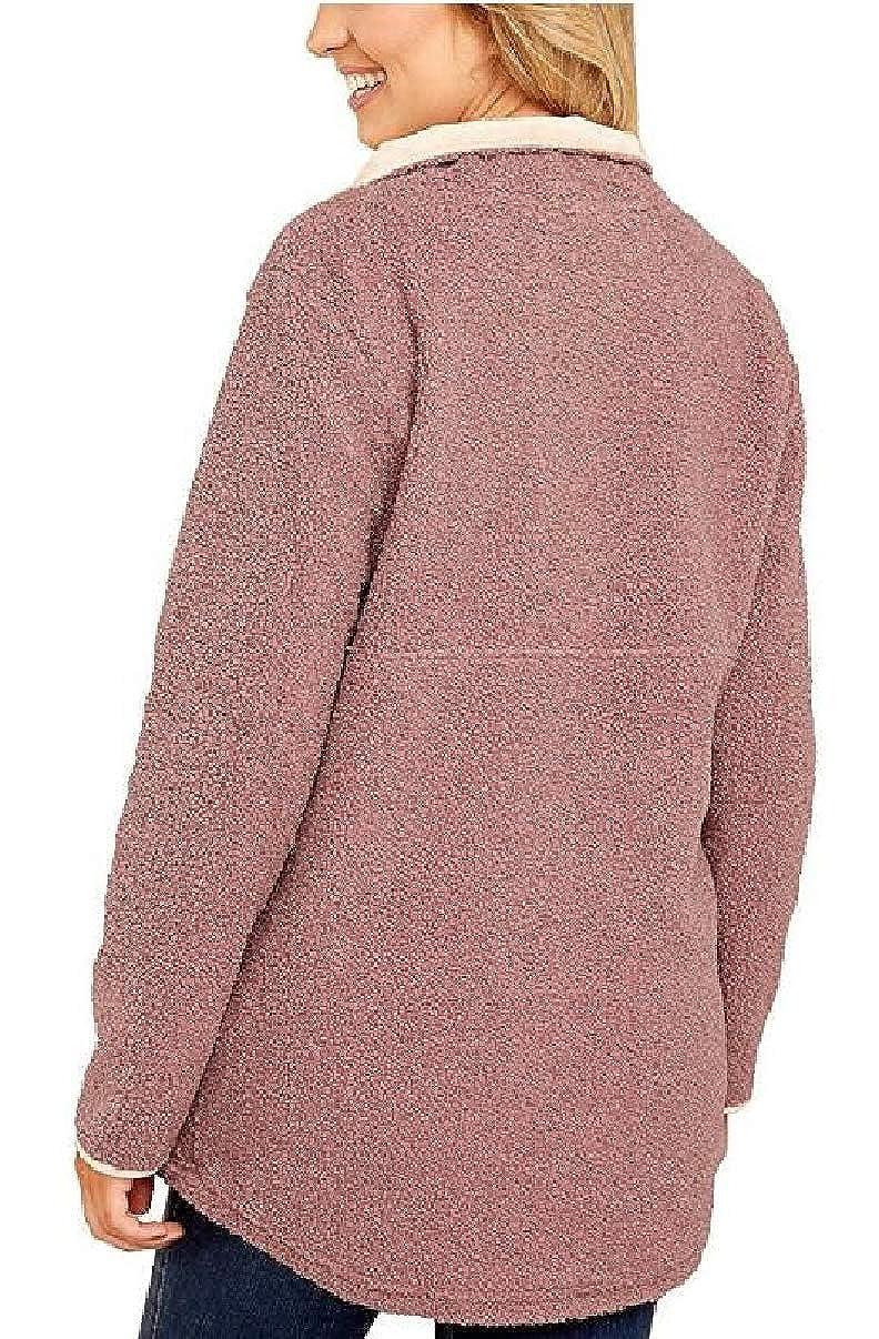 CBTLVSN Womens Casual Fleece Loose Sweatshirt Pullover Coat with Pocket