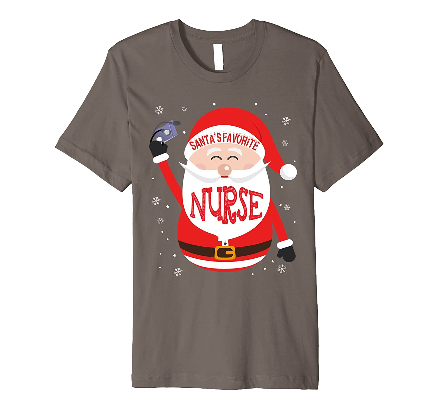 Santa Favorite With Nurse For Merry Christmas T-Shirt-FL