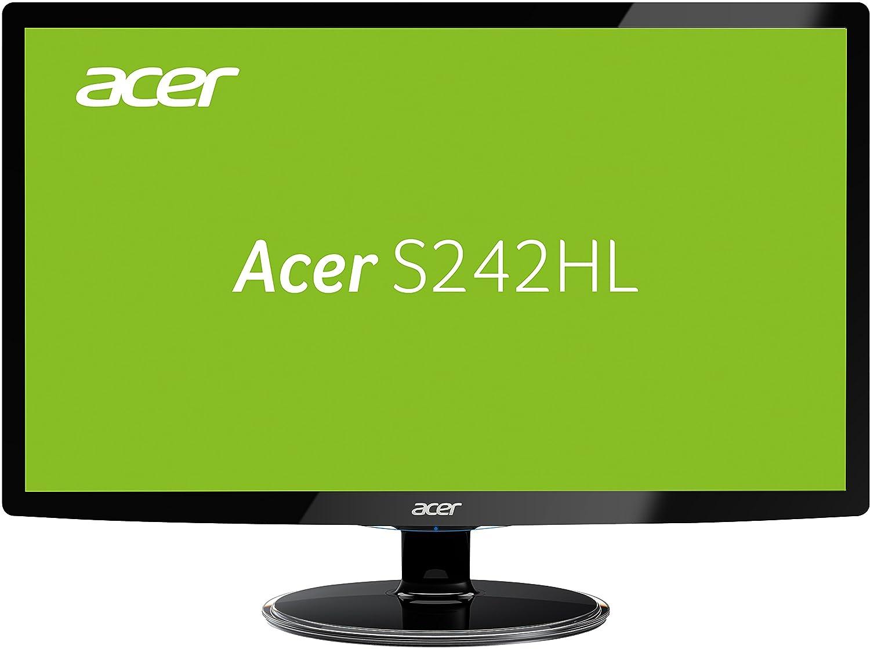 Acer S242HLCBID 60,1 cm (60,96 cm) Monitor (VGA, HDMI) Colour negro UM.FS2EE.D01