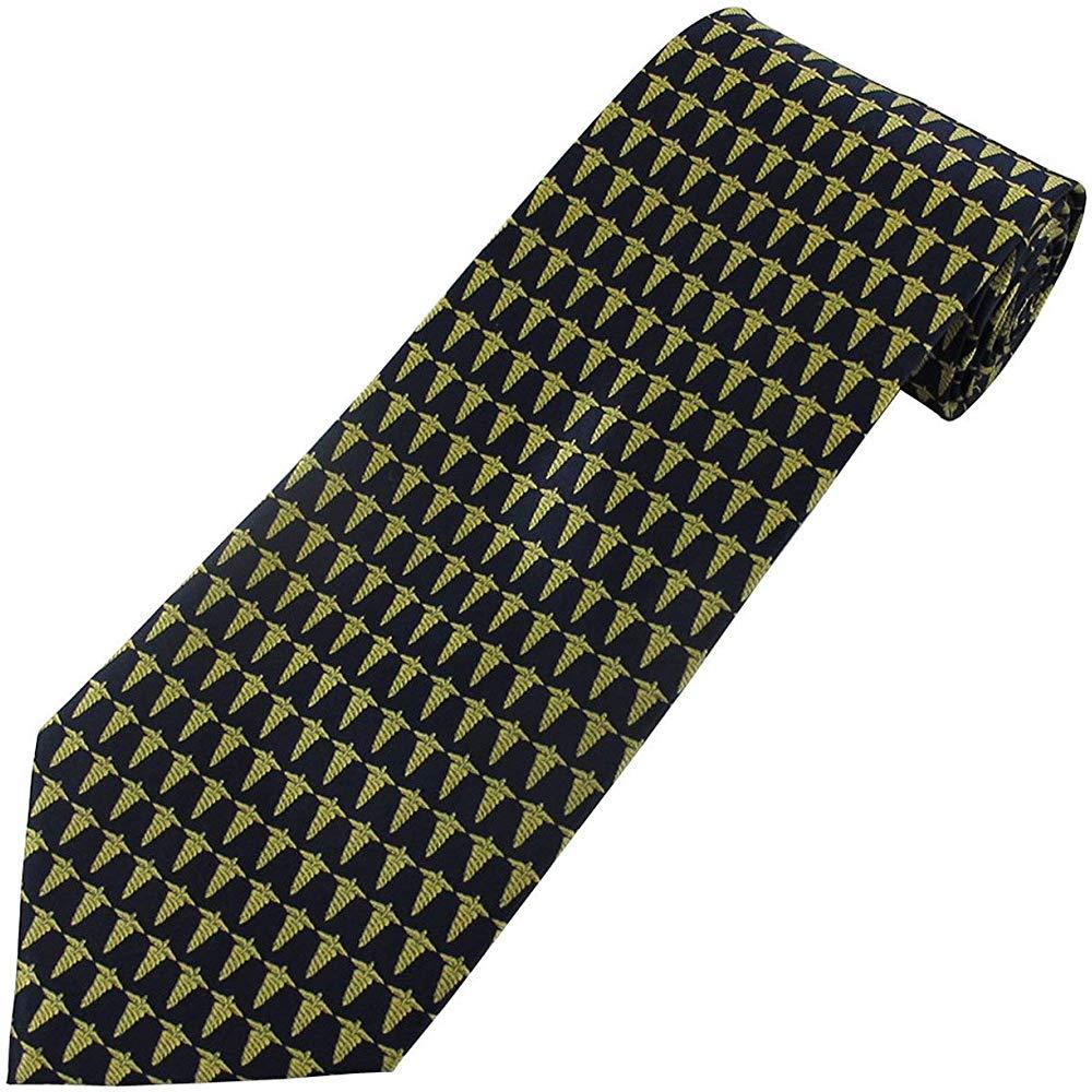 Corbata azul marino de la novedad del médico del caduceo de los ...