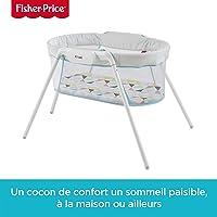 Fisher-Price lit pliable et transportable avec vibrations pour apaiser bébé, sac de rangement inclus, dès la Naissance, GBR67