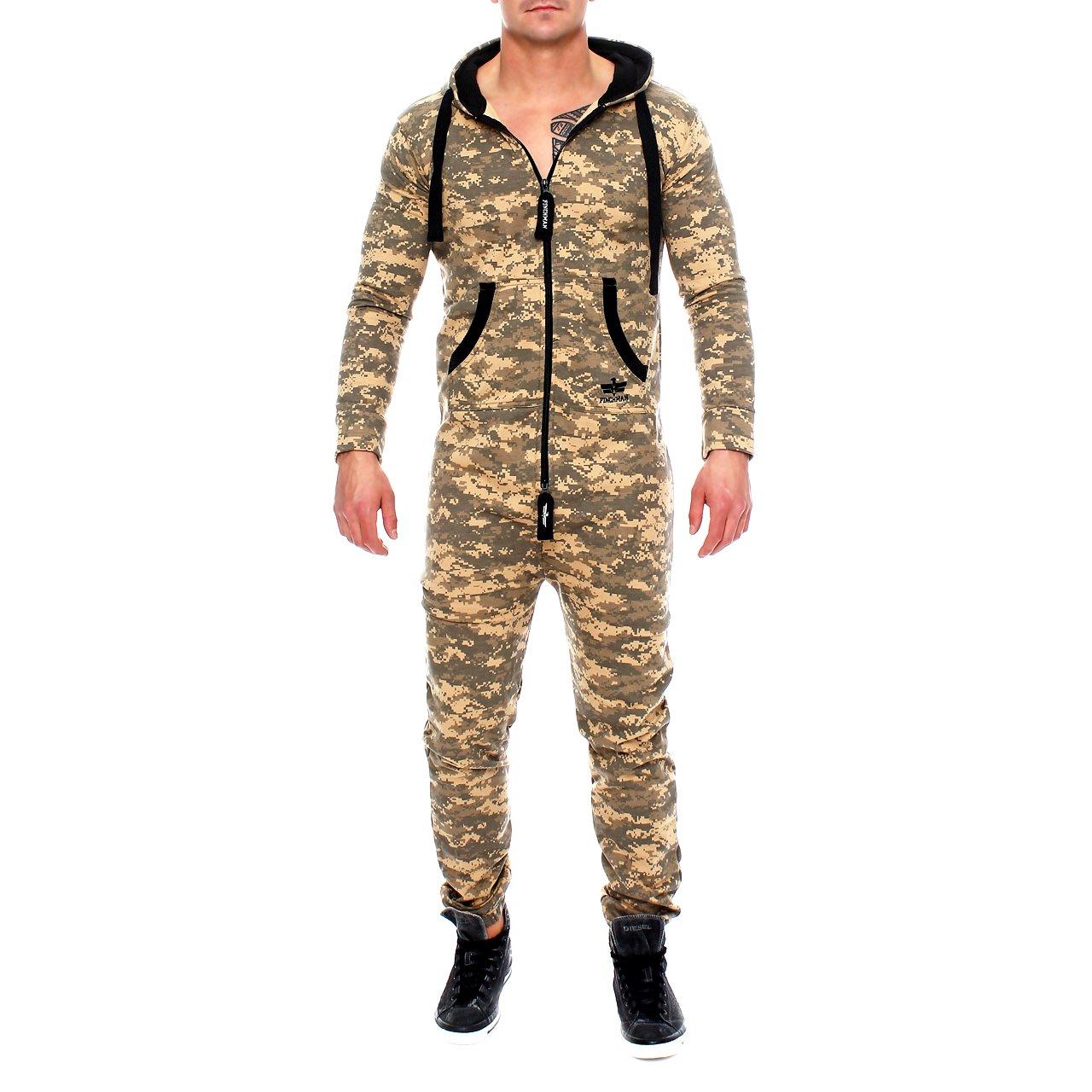 Finchman Men's Camouflage Jumpsuit Jogger Jogging Suit Tracksuit Jumpsuit