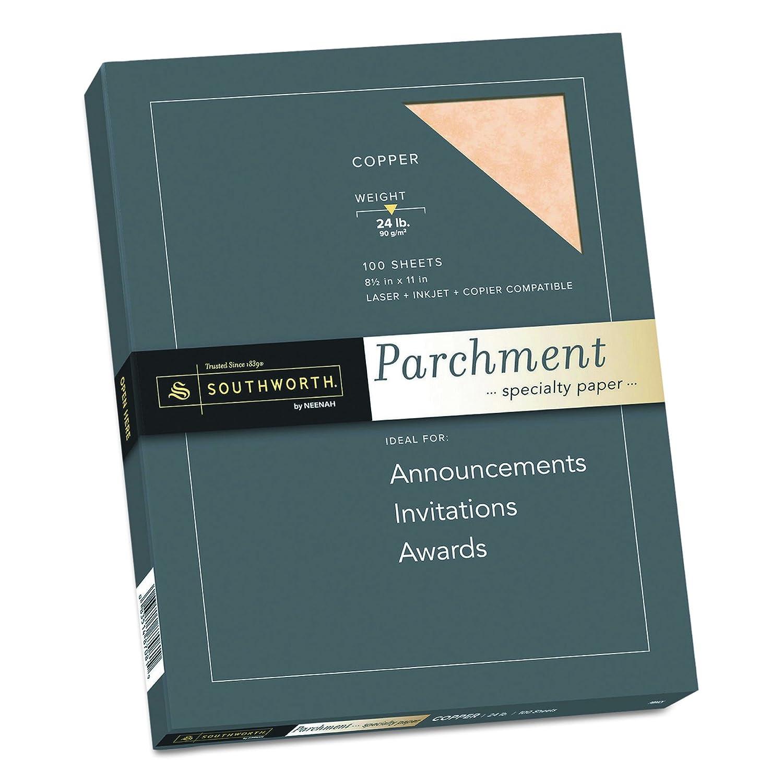 Southworth Fine Parchment Paper 24 lb 100 Sheet Count Blue P964CK