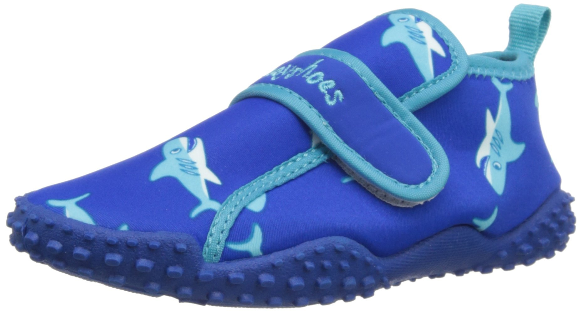 Playshoes Boys UV Protection Shark Collection Aqua Swimming/Beach Shoes (11.5 M US Little Kid)