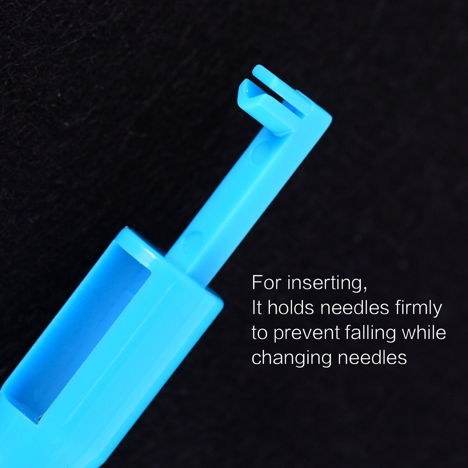 Hicarer 3 Pieces Sewing Needle Inserter Automatic Needle Threader Needle Threading Tool for Sewing Machine