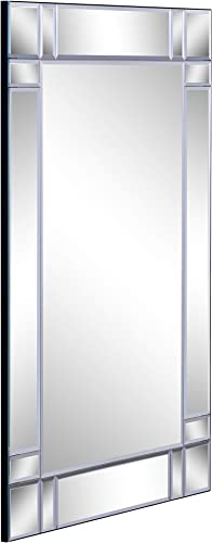 Chic Mode Silver Rectangular Glass Mirror