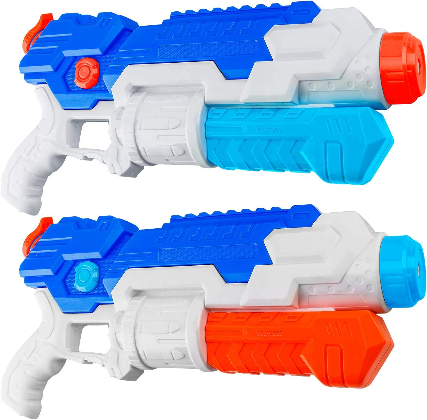 HDJUNTUNKOR Super Water Gun for Kids, 2 Pack Water Soaker Blaster Squirt-Gun for Adults 40Ft Long Range Water Blaster for Teens Beach Swimming Pool Water Fighting Toy - 800CC Capacity