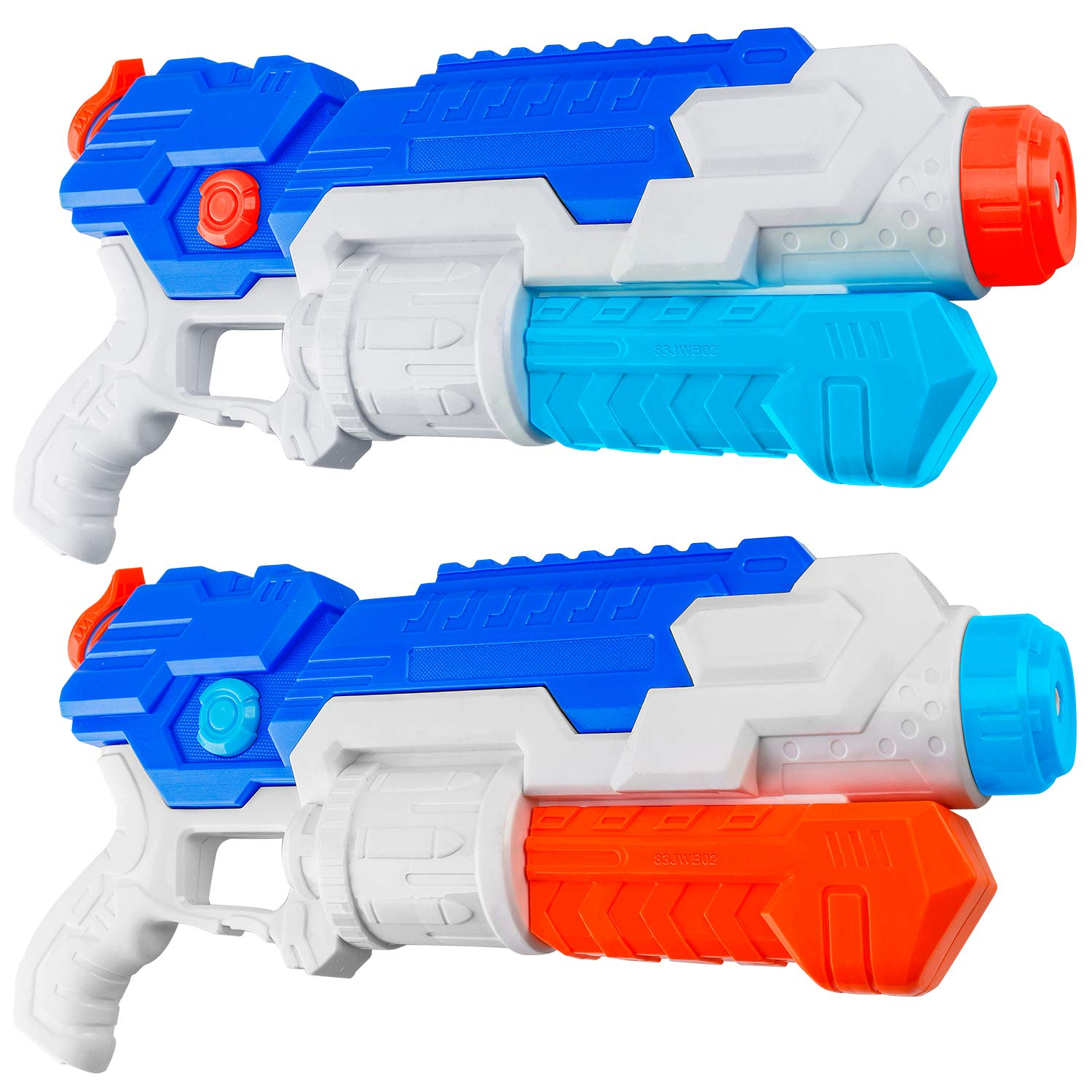 HD JUNTUNKOR Super Soaker Water Gun for Kids, 2 Pack Squirt Guns for Adults 40 Ft Long Range Water Soakers Blaster for Teens Beach Swimming Pool Water Fighting Toy - 800CC Capacity by HD JUNTUNKOR