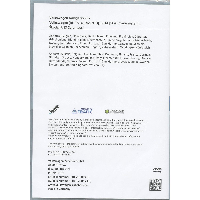 Volkswagen 1T0051859AQ Original DVD-ROM Navigation V16 Europe West
