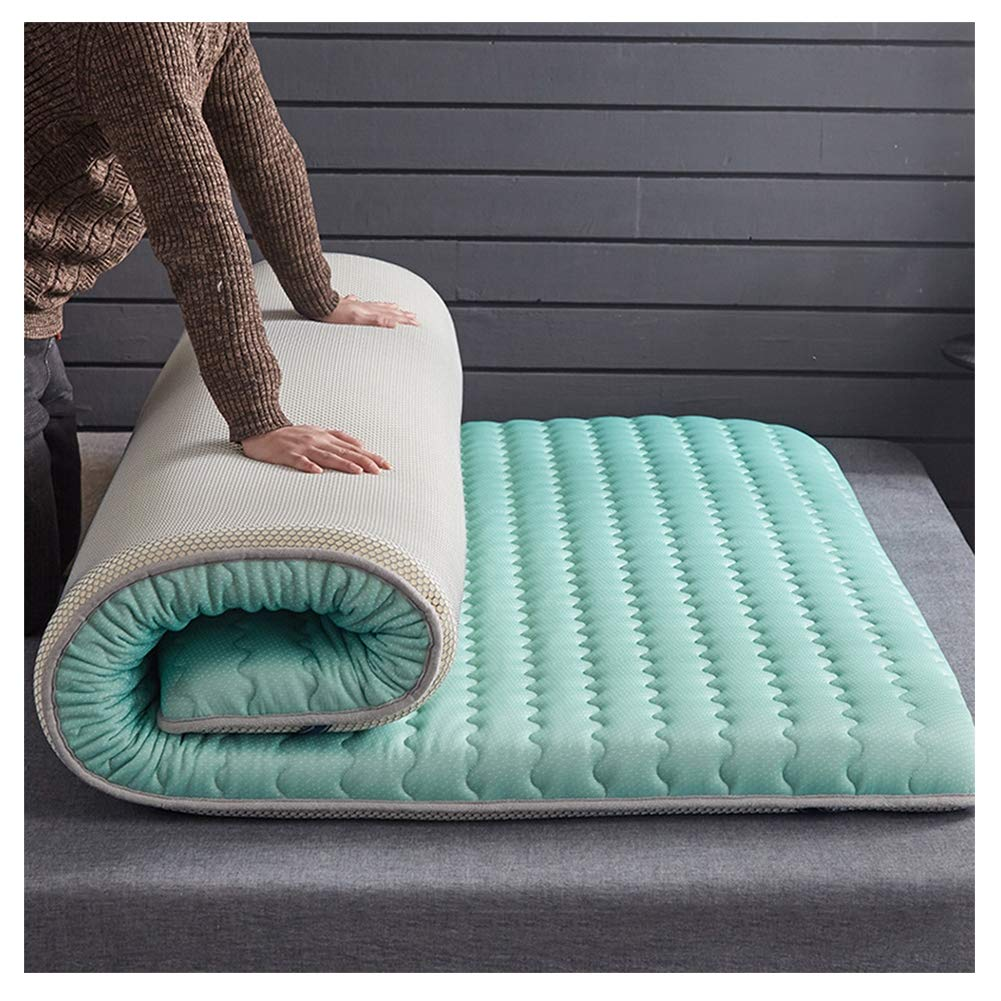 Mattress Tatami, Non-Slip Folding, Breathable Sleeping mat, Student Dormitory Breathable, A:Blue,150200/5979inch by Mattress