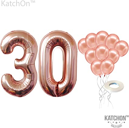 """42/"""" Giant Foil Number Rose Gold Balloons Birthday Wedding party AIR OR HELLIUM B"""