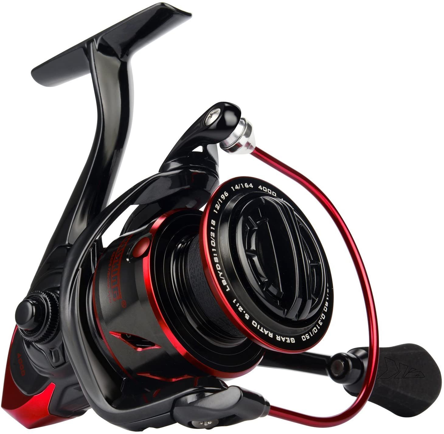 KastKing Sharky III Fishing Reel - New Spinning Reel - Carbon Fiber 39.5 LBs Max Drag - 10+1 Stainless BB for Saltwater or Freshwater - Oversize Shaft - Super Value!