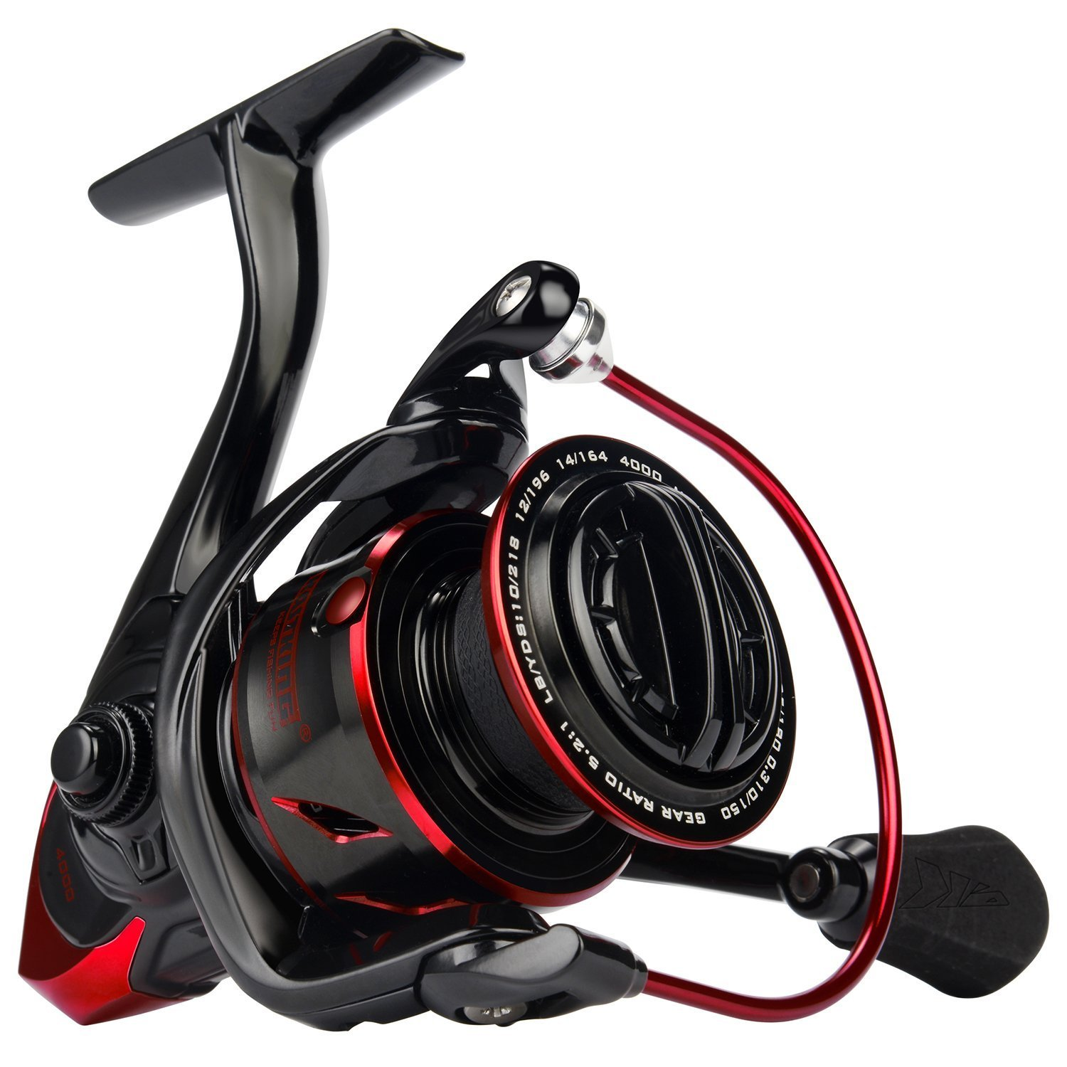 KastKing Sharky III Fishing Reel - New Spinning Reel - Carbon Fiber 39.5 LBs Max Drag - 10+1 Stainless BB for Saltwater or Freshwater - Oversize Shaft
