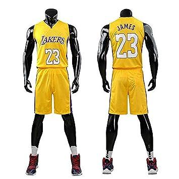 Lebron James #23 Camiseta de Baloncesto para Hombres - NBA Lakers, para niños Adultos y Adolescentes Top sin Mangas + Shorts