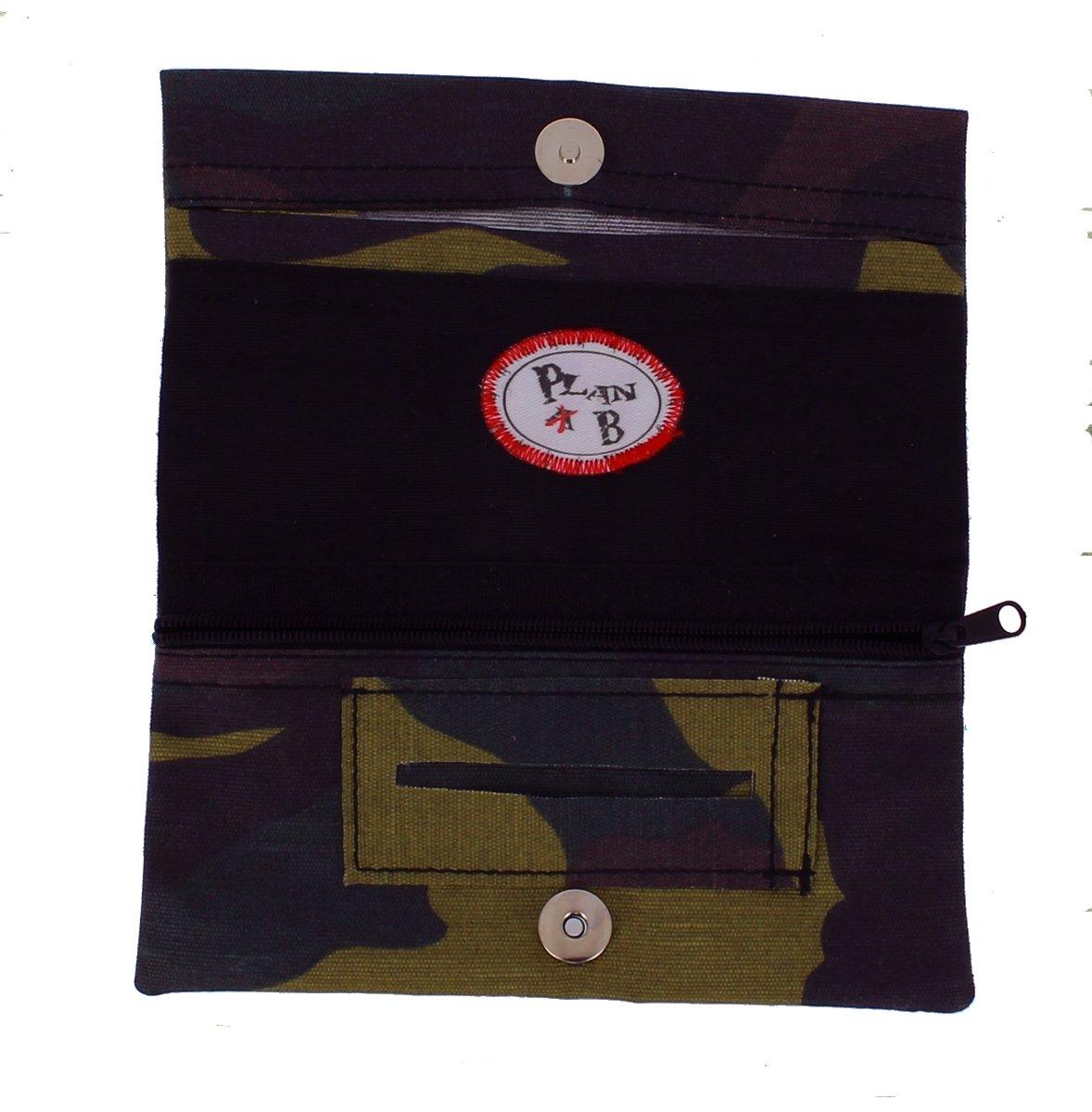 TABAQUERA Plan B Modelo TheOne Militar - Funda para tabaco de liar de diseño casual con compartimentos para boquillas, papel y picadura /TheOne ...
