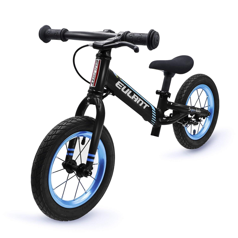 sorteos de estadio Negro Negro Negro ONT Ligero (1.7KG) Aleación de Aluminio Niño Empuje Equilibrio Bicicleta sin Pedales con Asiento Ajustable y Freno Bicicleta de Equilibrio Niños Instalación Gratuita (2 Métodos) para 2-7 Años Negro  minorista de fitness