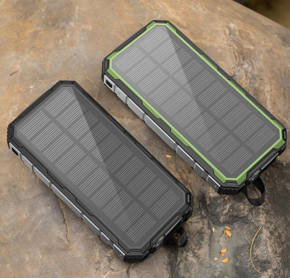 XZB Solar Charger, 50000mAh Solar Power Bank Dual USB Backup Battery Pack Charger, Outdoor Portable Solar External Battery Charger With Led Flashlight For Hiking, Camping, More (Color : A) by XZB (Image #3)