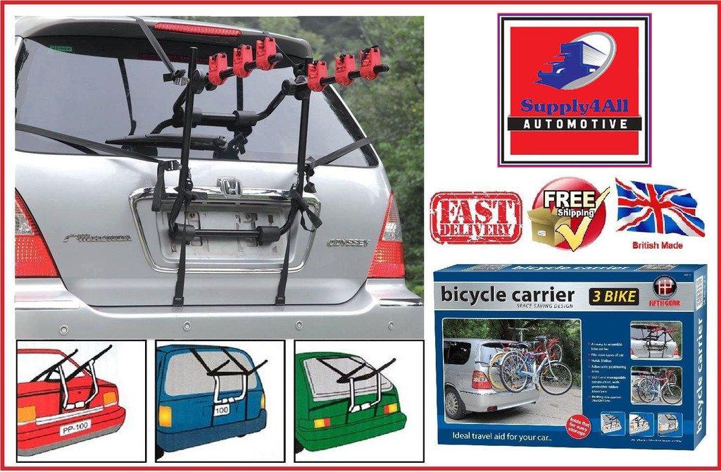 3 Bike Carrier Car Triple Cycle Rack Rear Mount FITS RANGE ROVER EVOQUE 2011/>/>/>