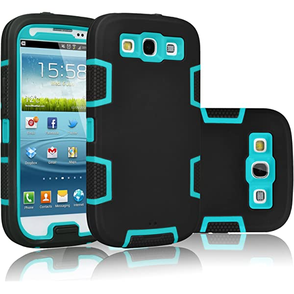 Amazon.com: Tekcoo Galaxy S3 Case, [Troyal Series] [Black ...